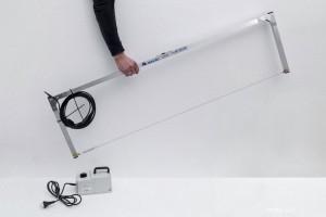 Polistirolo pjaustykle skirta dirbti rankiniu būdu