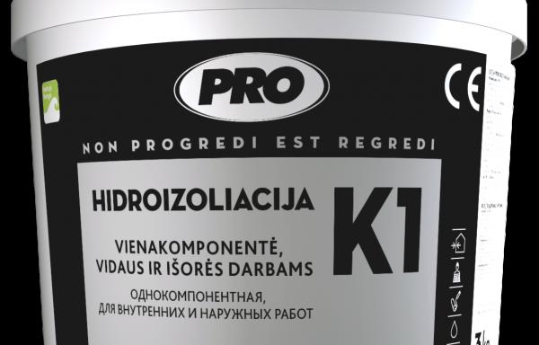 Hidroizoliacija vidaus ir išorės darbams K1